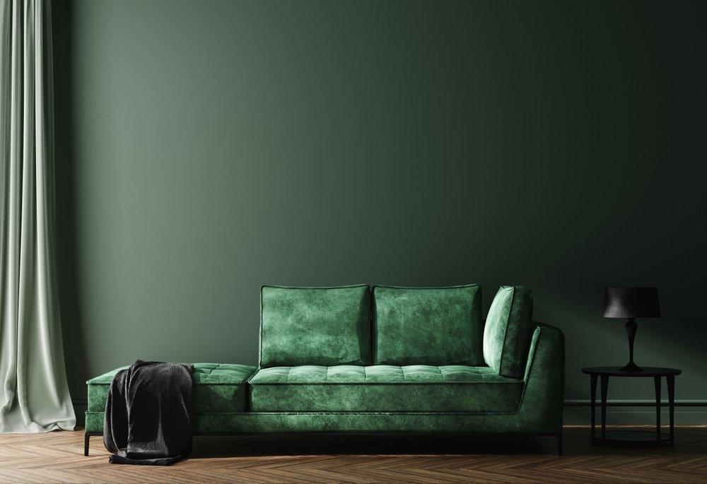 Le vert foncé dans votre décoration